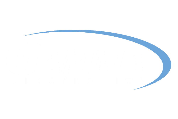 Gamma Electronics White Logo