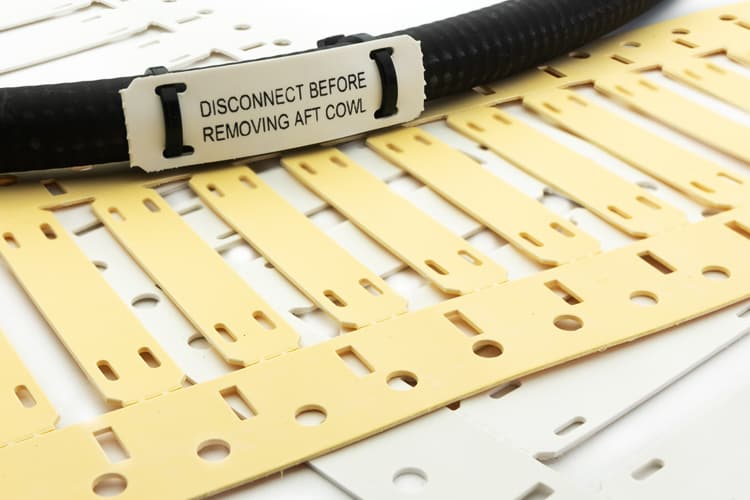 Gamma Electronics cable tie tags