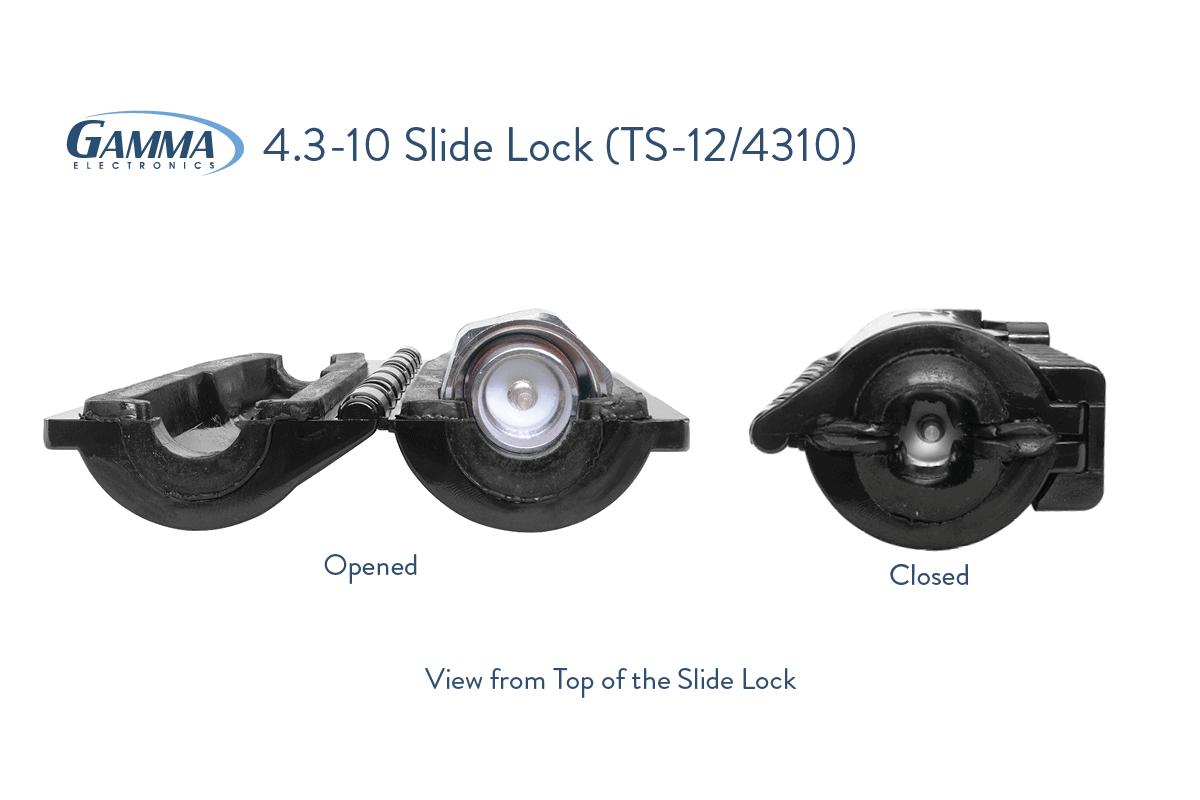 Gamma 4.3-10 Slide Lock Dimensions
