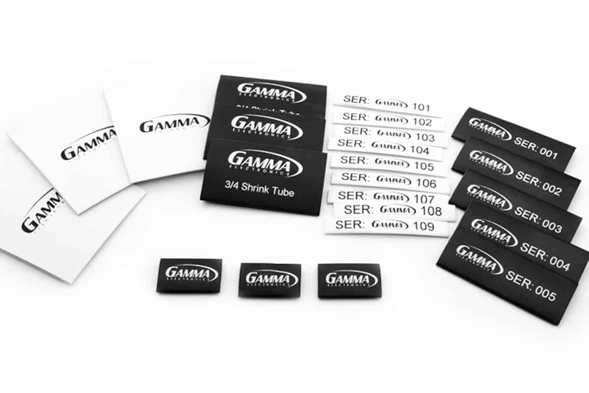Gamma Electronics Heat Shrink Printer Labels