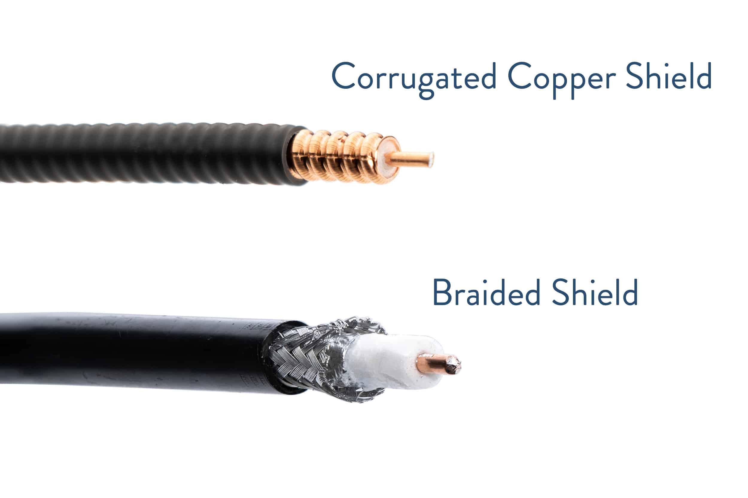 Corrugated Copper Shield vs Braided Shield